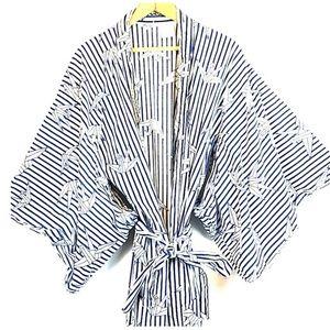 Sweet vintage cotton kimono robe